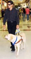 Foto: non vedente con cane guida