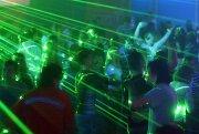 Giochi di luce laser ad un concerto