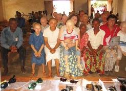 bimbi albini nella Repubblica Democratica del Congo