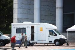 Unità mobile oftalmica al Sanit di Roma