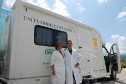 Seconda unità mobile oftalmica della IAPB Italia onlus a LAquila