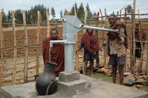 Pozzi realizzati grazie alla IAPB Italia onlus in Etiopia per prevenire il tracoma