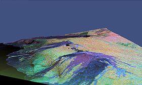 Vulcano hawaiano (colorato al computer)