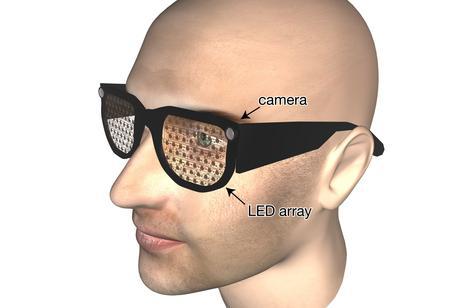 Occhiali sperimentali ipovedenti (Foto: S. Hicks, Oxford University)
