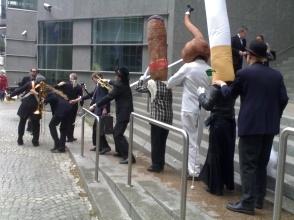 Campagna antifumo a Bruxelles (con la IAPB)