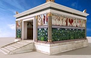 Ricostruzione dell'Ara Pacis com'era: il monumento dedicato da Augusto alla pace è stato colorato virtualmente
